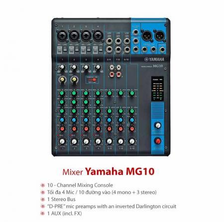 Bàn Mixer Yamaha MG10