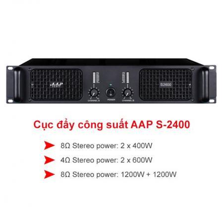 Cục đẩy công suất AAP Audio S-2400