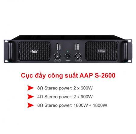 Cục đẩy công suất AAP Audio S-2600