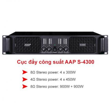 Cục Đẩy Công Suất AAP Audio S-4300