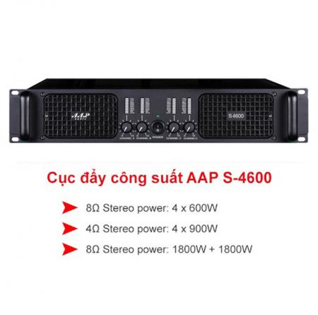 Cục đẩy công suất AAP Audio S-4600