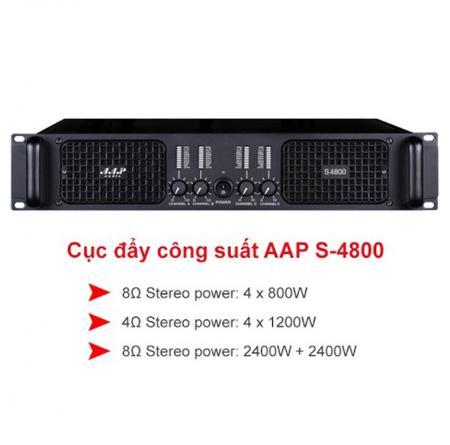 Cục đẩy công suất AAP Audio S-4800
