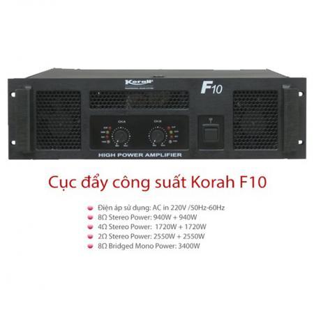 Cục đẩy công suất Korah F10