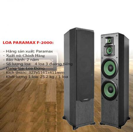 Loa đứng Paramax F-2000