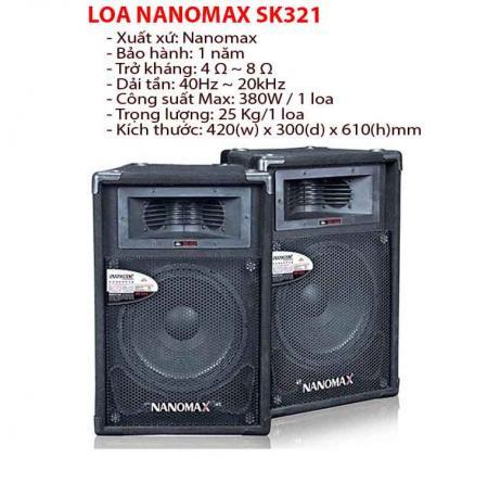 LOA HỘI TRƯỜNG NANOMAX SK321