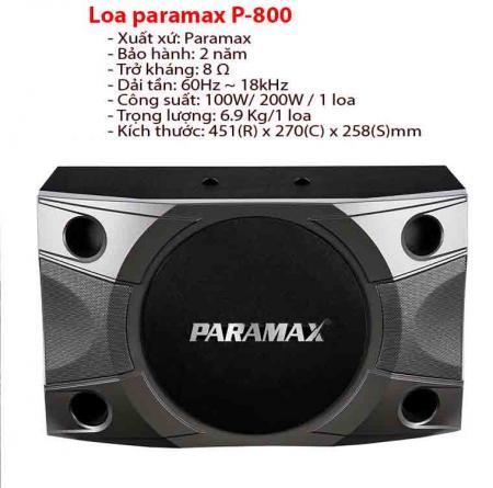 Loa karaoke paramax P-800