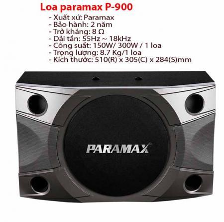 Loa karaoke paramax P-900