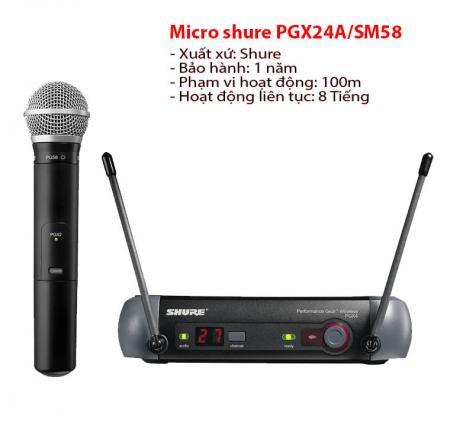 Micro không dây PGX24/SM58