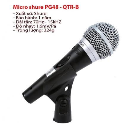 Micro shure PG48 – QTR – B