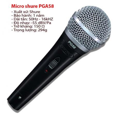 Micro shure PGA58