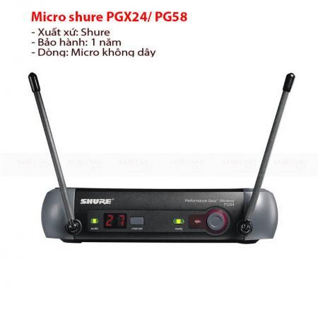 Micro shure PGX24A/PG58
