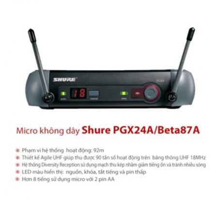 Micro shure PGX24/BETA 87A